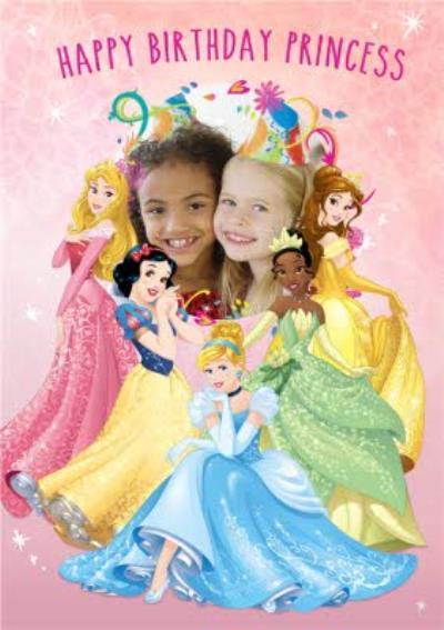Photo Birthday Card - Disney Princess