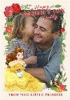 Disney Princess Belle Happy Fathers Day Photo Card