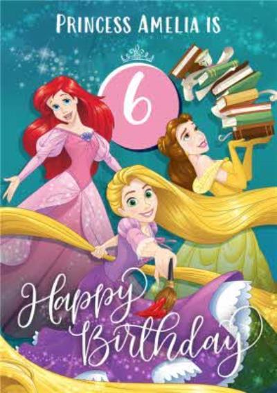 Disney Princess 6Th Birthday Card