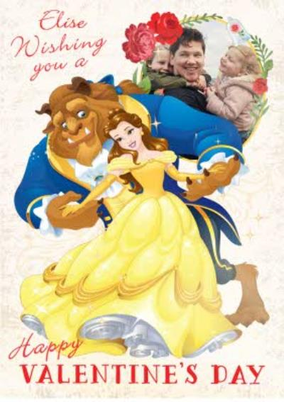 Disney Beauty And The Beast Valentines Card