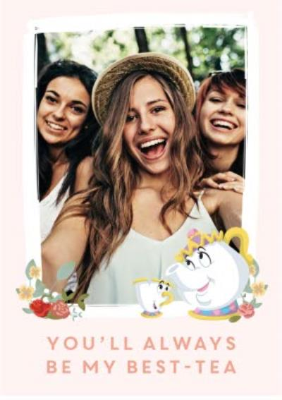 birthday card - female friend - Disney - Beauty and the Beast - best friend - photo upload