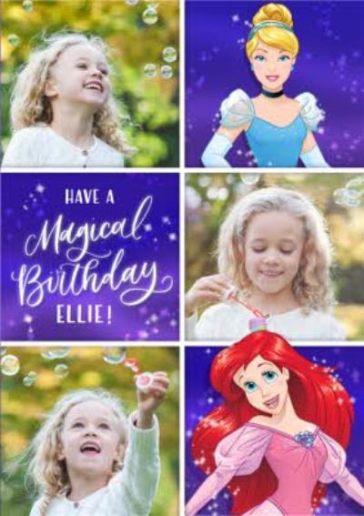 Disney Princess Photo Upload Birthday Card