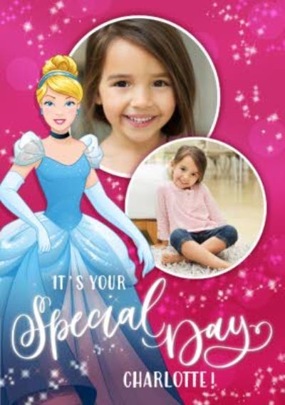 Disney Princess Cinderalla Photo Upload Birthday Card