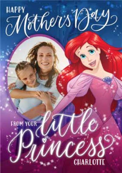 Disney Princess Ariel From The Kids Mother's Day Photo Card