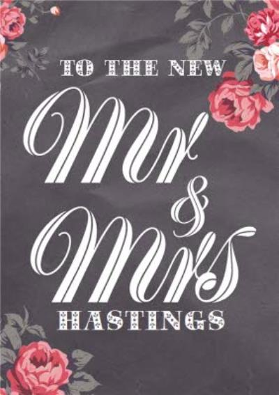To The New Mr & Mrs Personalised Wedding Day Card