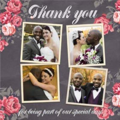 Roses Special Day Personalised Photo Upload Wedding Day Thank You Card