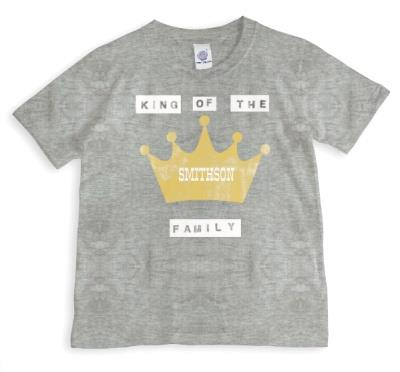Family King Personalised T-shirt