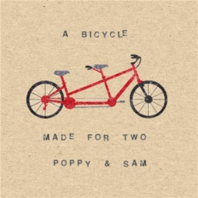 A Bicycle Made For Two Personalised Happy Anniversary Card