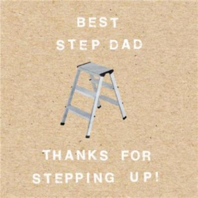 Funny Step Dad Father's Day Card