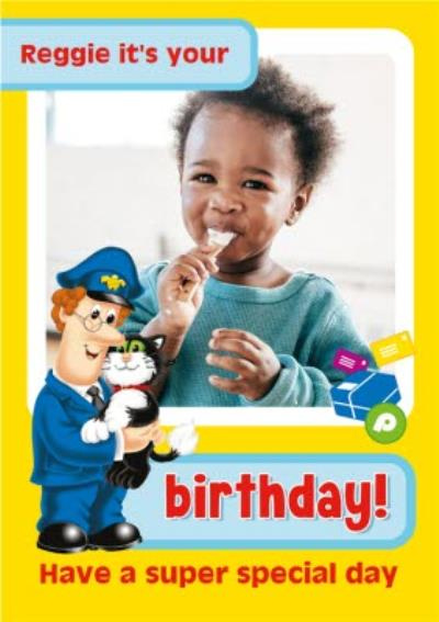 Postman Pat Have a Super Special Day Photo Upload Card