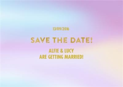 Pastel Colours Wash Personalised Save The Date Card