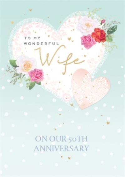 Trinket Box To My Wonderful Wife On Our 50TH Wedding Anniversay Card