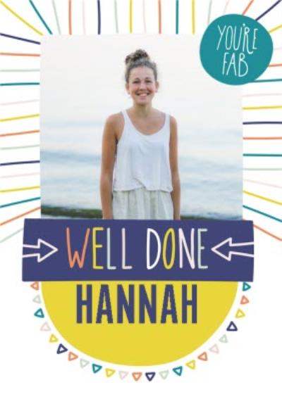 Well Done Card - Graphic - Typographic - Photo Upload