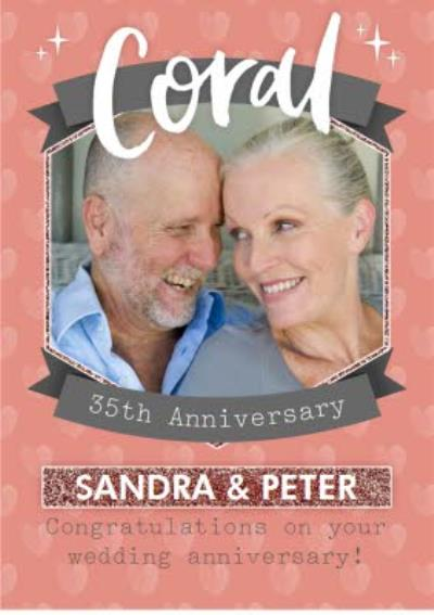 Coral 35Th Anniversary Card