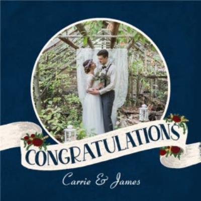 Wedding Card - Wedding Congratulations - Photo Upload