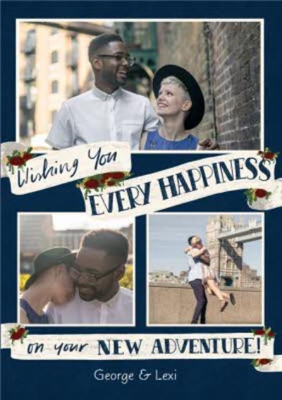 Wedding Card - Wedding Congratulations - Photo Upload - Happiness - New Adventure
