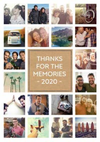 Thank you card - 20 photo upload card - memories
