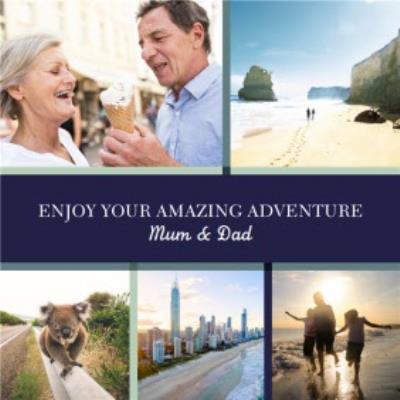 Bon Voyage Card - Photo Upload - Adventure - Travel