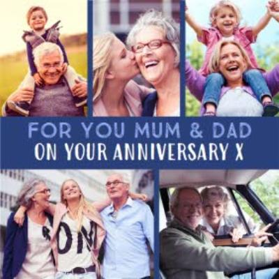 Mum & Dad Multi Photo Upload Anniversary Card
