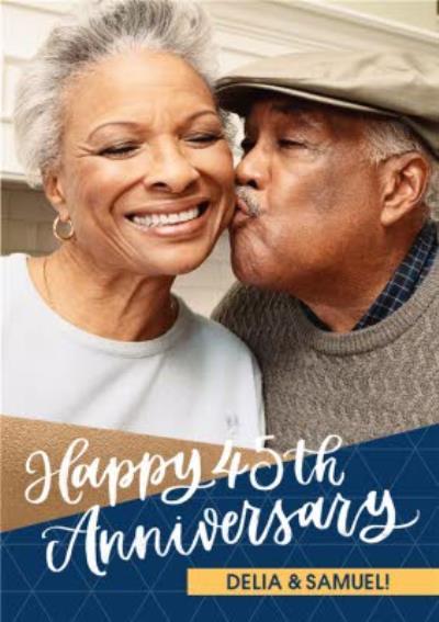 Happy 45th Anniversary Photo upload card