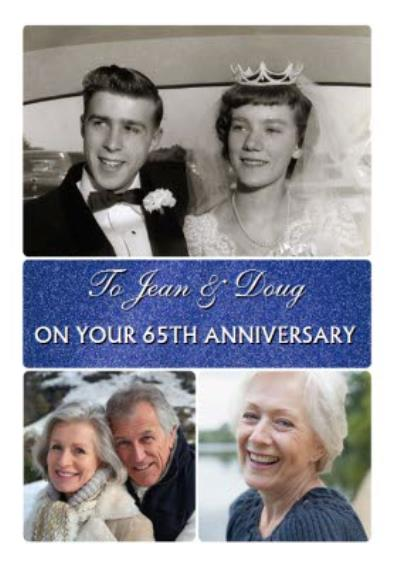 Photo Upload Anniversary Card on your 65th Anniversary