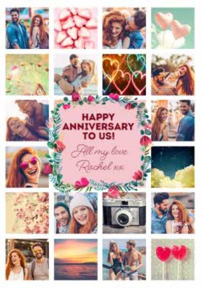 Multiple Photo Upload Happy Anniversary To Us Card