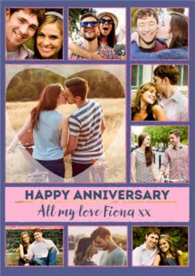 Multiple Photo Upload Happy Anniversary Card