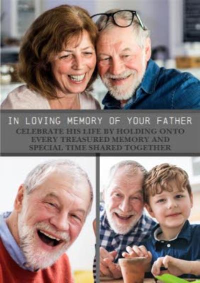 Modern Photo Upload In Loving Memory Of Your Father Thinking Of You Card