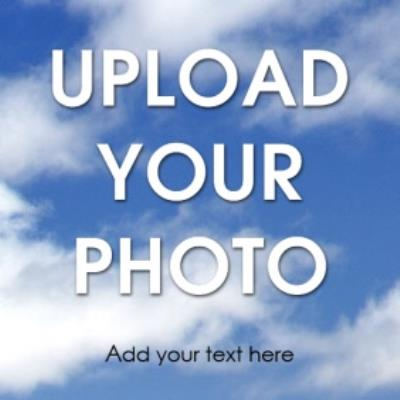 Full Width Upload Your Photo And Text Card