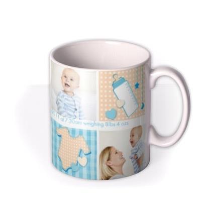 Baby Boy Collage Photo Upload Mug