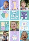 Photo First Birthday Card