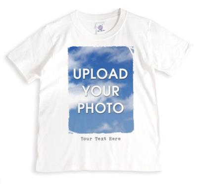 Rough Edged Rectangle Large Photo Upload T-Shirt