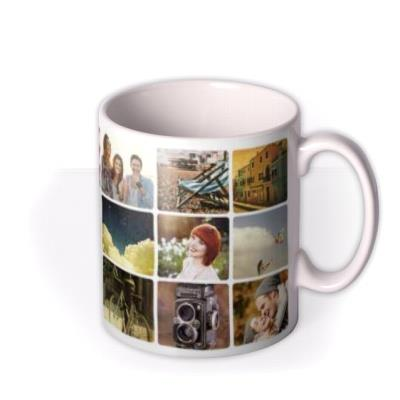 18 Photo Grid Photo Upload Mug
