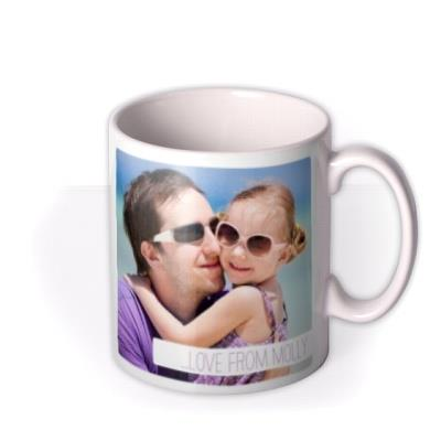 Image Duo Photo Upload and Personalised Text Mug
