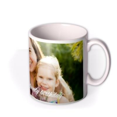 Long Photo Upload and Personalised Text Mug