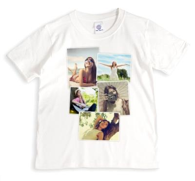 Five Picture Vintage Style Photo Upload T-Shirt