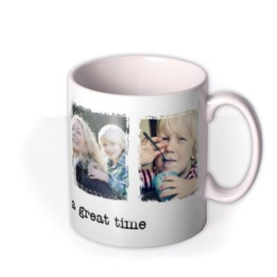 Four Picture Vintage Style Photo Upload Mug
