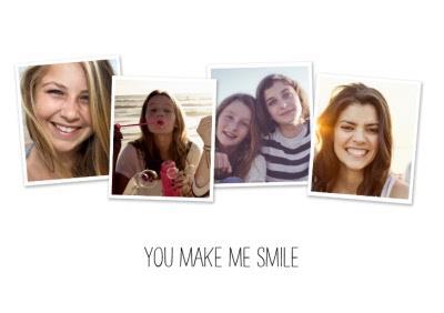 Photo Card - You Make Me Smile