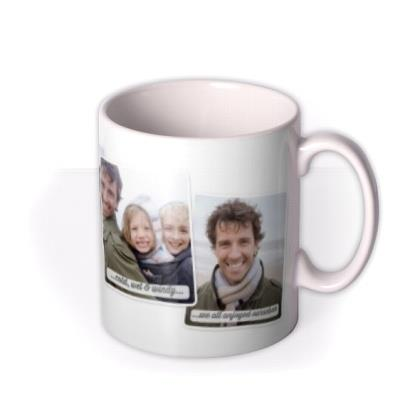 Caption Picture Frames 4 Photo Upload Mug