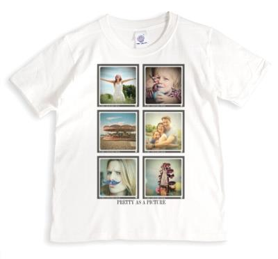 6 photo Grid Photo Upload T-shirt