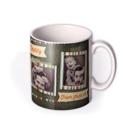 Father's Day Daddy Bunting 4 Photo Upload Mug
