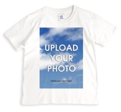 Full bleed photo upload t-shirt