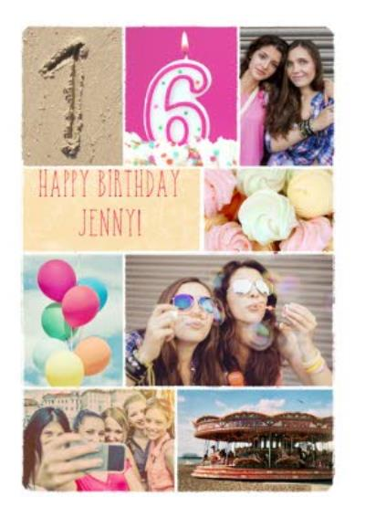 16th Photo Birthday Card