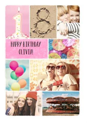 18th photo birthday card