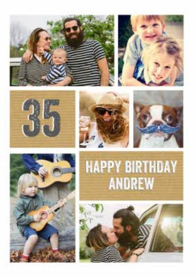 35th Birthday Card - Photo Upload Age Card