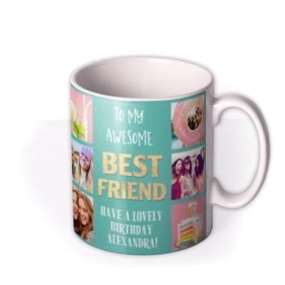 To My Awesome Best Friend Multiple Photo Upload Mug
