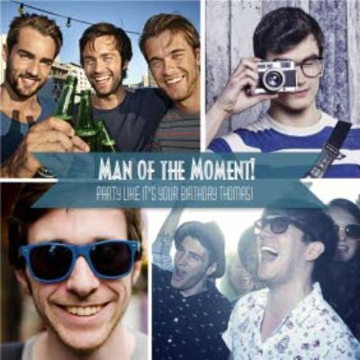Birthday Card For Him - Send a personalised photo birthday card for men
