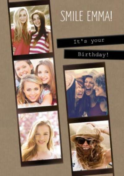 Smile! It's Your Birthday - Photo Birthday Card