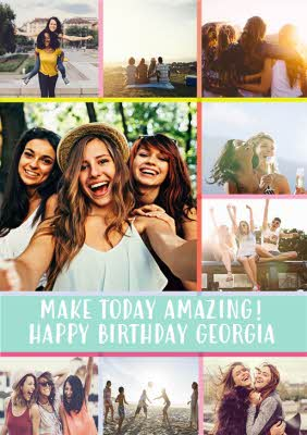 birthday card with photos make today amazing happy birthday