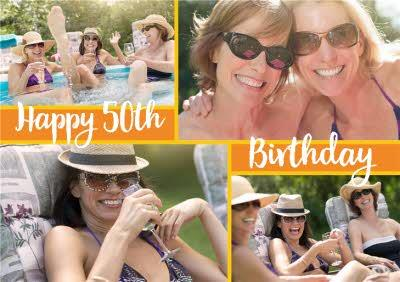 Photo 50th Birthday Card